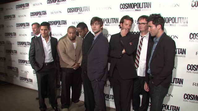 Mario L_pez Timbaland Blair Underwood Chace Crawford Bradley Cooper Rainn Wilson Adam Levine at the Cosmopolitan Honors its Fun Fearless Males of...