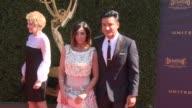 Mario Lopez and Courtney Laine Mazza at the 44th Annual Daytime Emmy Awards at Pasadena Civic Auditorium on April 30 2017 in Pasadena California