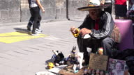 Marionette Performer on City Street in Mexico