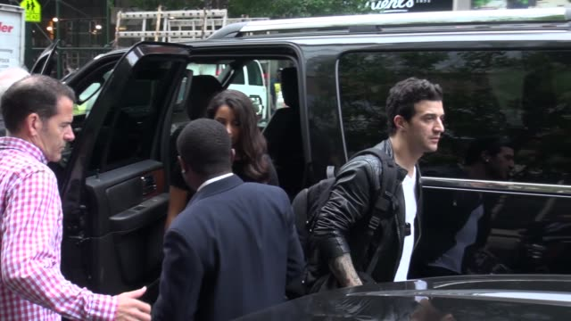 Mark Ballas and Aly Raisman at the 'LIVE with Kelly and Michael' studio in New York NY on 5/22/13