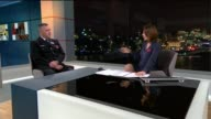 PC Mark Bird nominated for Police Bravery Award London GIR INT Reporter to camera PC Mark Bird LIVE STUDIO interview SOT