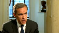 Mark Carney interview on mortgage lending Carney interview SOT On interest rates increase in future / gradual and limited increases / a lot of...