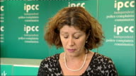 IPCC statement ENGLAND London INT Rachel Cerfontyne reading statement SOT The Independent Police Complaints Commission's investigation into the...