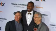 Mark Greenberg Amare Stoudemire and Albie Hecht at EPIX Premiere Of Amare Stoudemire IN THE MOMENT at Marquee on April 18 2013 in New York New York