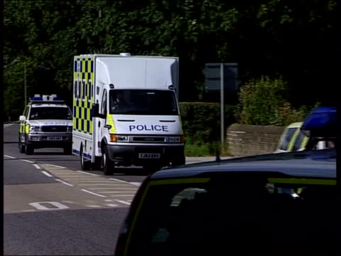 Mark Hobson Trial for Double Murders Middlesbrough Teesside Police van along to court PAN to BV