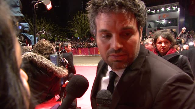 Mark Ruffalo on how filming was and working on set at the Shutter Island Premiere 60th Berlin Film Festival at Berlin