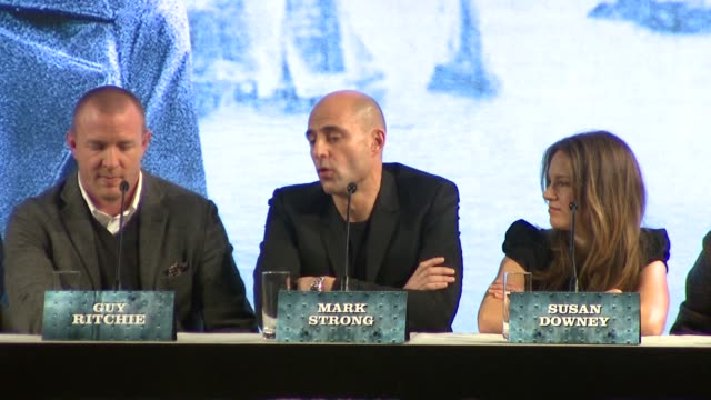 Mark Strong on working with Guy Ritchie again and playing the villain and why he thinks Sherlock Holmes is considered quintessentially British at the...