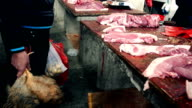 Market butchers in China