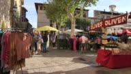 MS Market day in Pollenca / Mallorca, Balearic Islands, Spain