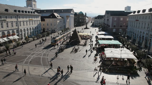WS Market Square of city / Karlsruhe, Baden-Wurttenberg, Germany