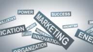 Marketing words background