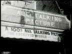 Marquee 'All Talking Picture 100% All Talking Picture The Cockeyed World' Advertising
