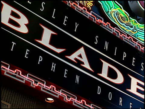 Marquee at the 'Blade' Premiere at Grauman's Chinese Theatre in Hollywood California on August 20 1998