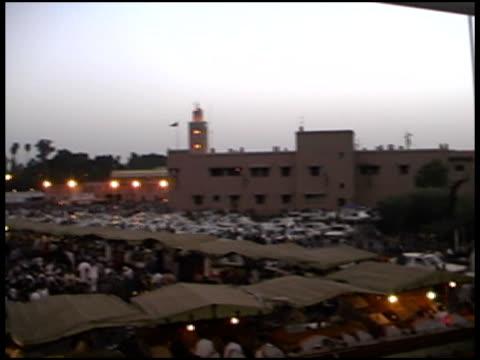 Marrakech, Marrakesh Market.  Pan of Djemaa el Fna Square (Morocco)