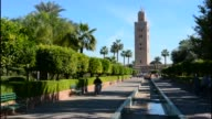 Marrakech Morocco with tower in the background