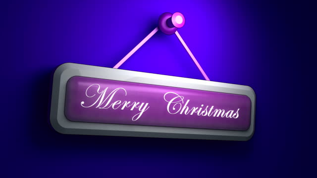 Marry Christmas animation on the wall