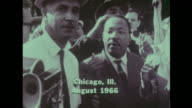 Martin Luther King attends a protest in Chicago Illinois in August 1966