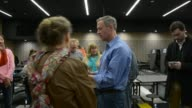 Martin O'Malley speaking at a town hall in Waukee Iowa Also talking with voters after the town hall