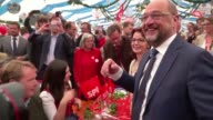 Martin Schulz leader of Germany's social democratic SPD party and candidate for Chancellor attends the Gillamoos event in Abensberg southern Germany...