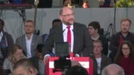 Martin Schulz the leader of Germany's Social Democratic Party holds a rally ahead of the nation's elections on Sunday