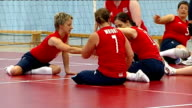 Martine Wright to give 7/7 bombings memorial lecture R24081206 / Bath Various shots Martine Wright training with team in volleyball practice