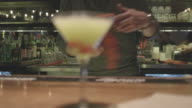 martini being served