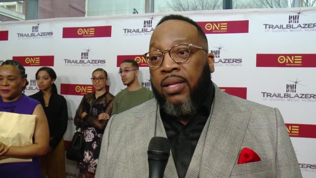 INTERVIEW – Marvin Sapp shares how he feels receiving this award at BMI Trailblazers of Gospel Music at Rialto Center for the Arts on January 14 2017...