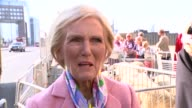 Mary Berry drives sheep over London Bridge Mary Berry interview SOT