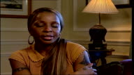 Mary J Blige interview Mary J Blige interview SOT music I sing is therapy for me