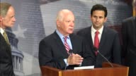 Maryland Senator Ben Cardin joins Senate Democrats at a press briefing to urge President Donald Trump not to withdraw from the 2016 Paris climate...