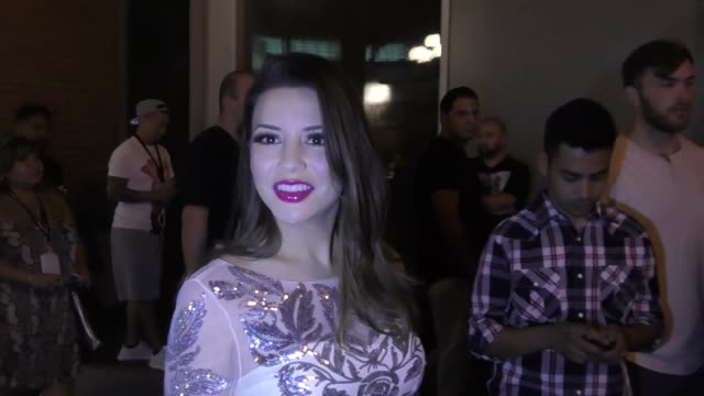 INTERVIEW Masiela Lusha on dancing in high heels at Celebrity Sightings at San Diego ComicCon International on July 22 2017 in San Diego California
