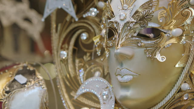CU of Masquerade Mask / Venice, Italy