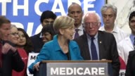 Massachusetts Elizabeth Warren tells media and supporters of universal health care coverage that Americans across the country made their voices heard...