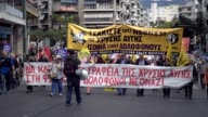 A massive antifascist protest march took place in Athens on Saturday Hundreds of demonstrators demanded the closure of the far right party 'Golden...