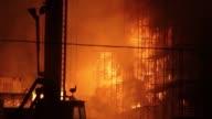 Massive Construction Site Fire