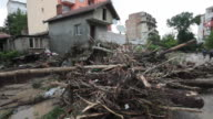 Massive flash flooding and mudslides in the district of Asparuhovo Varna Bulgaria At least 11 people have died Some of the victims are children The...