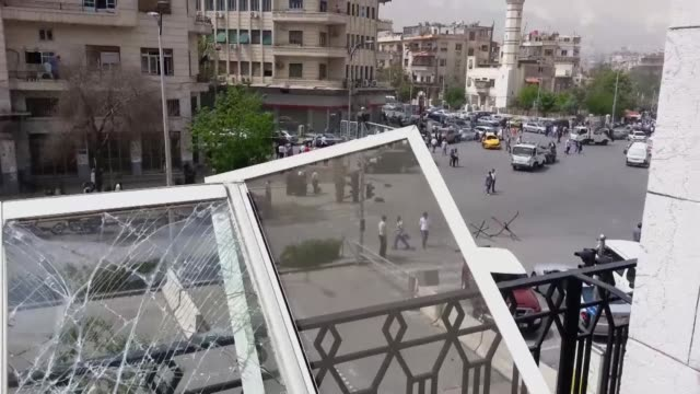 A massive suicide car bomb that ripped through the heart of the Syrian capital on Monday damaged the AFP Damascus office blowing out the windows but...