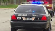 A massive warehouse fire in NW Indiana forced residents to evacuate Hammond Police Cars At Warehouse Fire on July 27 2013 in Hammond Indiana