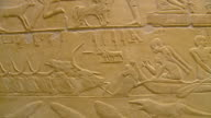 MS PAN Mastaba interior and ancient reliefs at Saqqara archeological site / Saqqara, Egypt