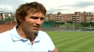 Andy Murray wins third round South West London Wimbledon Pat Cash and Davies Pat Cash interview SOT its exciting news / not a lot of challengers for...