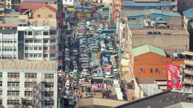 Matatus On Accra Road Nairobi  Kenya  Africa