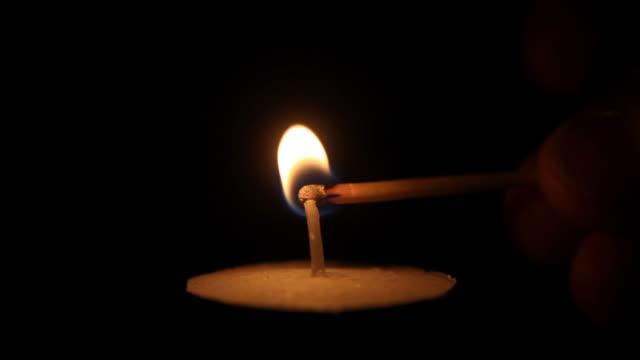 Match Anzünden Teelicht Kerze