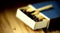 Matchbox burning