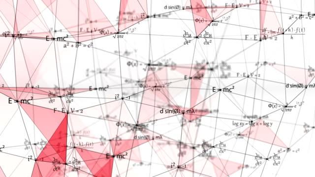 Mathematische Physik Formeln auf Verbundnetz mit weißem Hintergrund, Technologie-Konzept