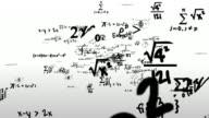 Math Symbols Journey Flying Through Camera