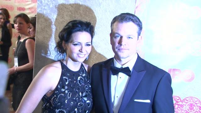 Matt Damon at HBO's Post 2014 Golden Globe Awards Party at Circa 55 Restaurant on in Los Angeles California
