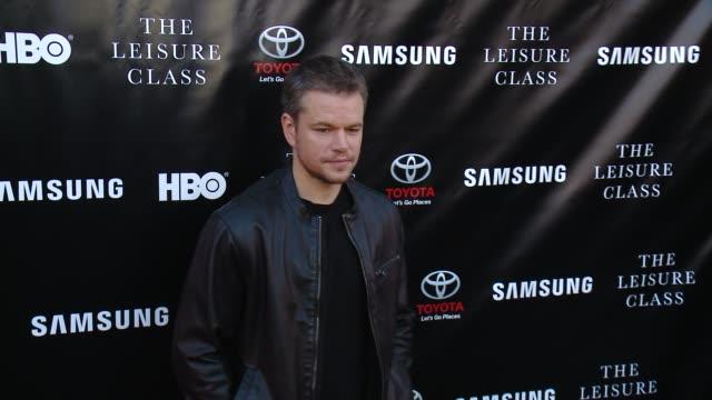 Matt Damon at Matt Damon Ben Affleck Adaptive Studios And HBO Present The Project Greenlight Season 4 Winning Film 'The Leisure Class' at The Theatre...