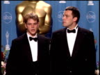 Matt Damon at the 1998 Academy Awards at the Shrine Auditorium in Los Angeles California on March 23 1998