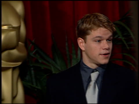 Matt Damon at the 1998 Academy Awards Luncheon Arrivals at the Beverly Hilton in Beverly Hills California on March 9 1998