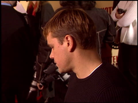 Matt Damon at the 'Hotel Rwanda' Premiere at Academy Theater in Beverly Hills California on December 2 2004